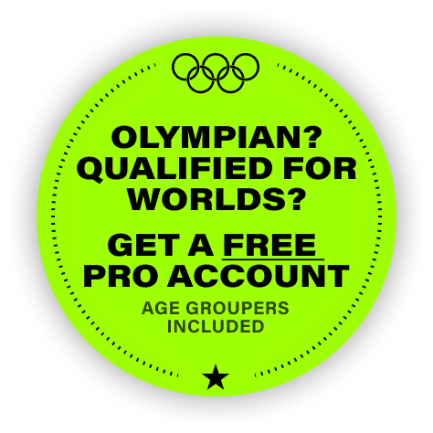 Olympian? Qualified for worlds? Get a free pro account (age groupers included).
